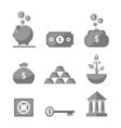 Money icons in black color vector image vector image