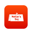 mother day postcard icon digital red vector image