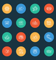 new icons line style set with celebration vector image