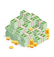 pile money isolated vector image vector image