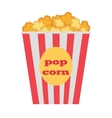 Popcorn Box Traditional Salty Sweet Snack vector image