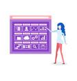 presentation working achievements business vector image vector image