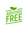 preservative free logo icon stamp additives free vector image vector image