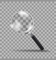 realistic transparent modern magnifying glass vector image