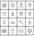 set of 16 agriculture icons includes rake jug vector image vector image