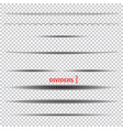 set of dividers vector image vector image