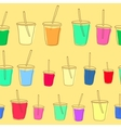 Set of milk shake Isolated on white background vector image