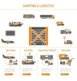 Shipping and logistics Concept vector image vector image