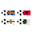 Soccer Ball with Aland Albania Alderney flag vector image vector image