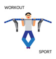 sportman with sports equipment for street workout