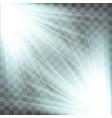 spotlight blue light effect vector image vector image