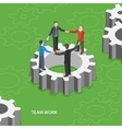 Team work flat isometric concept vector image vector image
