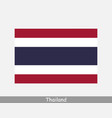 thailand thai national country flag banner icon vector image