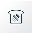 toast bread icon line symbol premium quality vector image