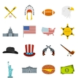 USA icons set flat style vector image vector image