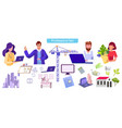 various professions flat set vector image vector image