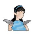 warrior princess armor cape costume halloween vector image