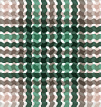 Wave tartan green brown gradient background vector image vector image