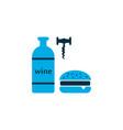 wine with burger icon colored symbol premium vector image