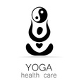 yoga health care vector image vector image