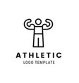 athletic man lgoo template people healthy life vector image
