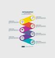 6 steps connection infographic element design vector image