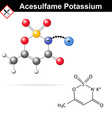 Acesulfame potassium - artificial sweetener vector image vector image
