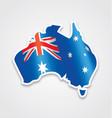 australian flag in map of australia vector image vector image