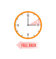 autumn time back change your clocks on winter vector image