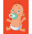 baby with pacifiers vector image