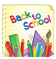 back to school theme 6 vector image vector image