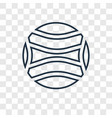 ball concept linear icon isolated on transparent vector image vector image