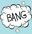 Bang Comic vector image
