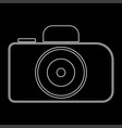 camera the white path icon vector image vector image