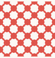 circles mesh geometric seamless red grid pattern vector image vector image