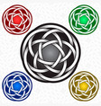 circular logo template in celtic knots style vector image vector image