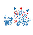 classic holiday lettering series happy 4th vector image vector image