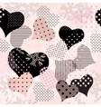 collage of hearts vector image vector image