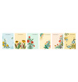 collection colorful natural spring backgrounds vector image