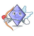 cupid rhombus character cartoon style vector image