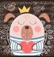 cute cartoon dog - funny vector image vector image