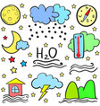 doodle of weather colorful design vector image