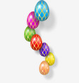 easter egg 3d bright hanging easter eggs vector image
