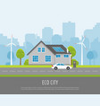 eco city vector image