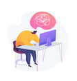 emotional burnout concept metaphor vector image vector image
