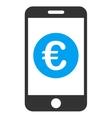 Euro Mobile Balance Icon vector image vector image