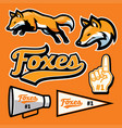 fox sport team mascot set vector image vector image