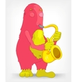Funny Monster Saxophonist vector image
