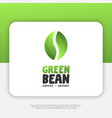 green bean logo design inspiration vector image