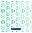 green flower pattern background vector image vector image
